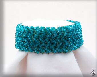Teal Seed Bead Bracelet