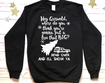 Hey Griswold Crewneck Christmas Sweater. Mens - Unisex Holiday sweatshirt. Christmas - Vacation funny Griswold sweater.
