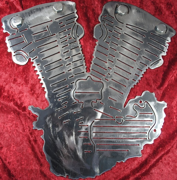 Knucklehead Engine, Motorcycle Engine, Metal Knucklehead Engine, Metal Engine, Metal Decor, Metal Wall Art Decor, Man Cave, Gift for Him