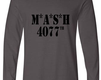 Mash Inspired Cool Retro Long Sleeve Tee