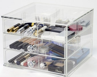 3 Drawer Makeup Organizer | Dream Collection - Clear Acrylic Makeup Storage