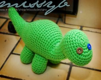 Crochet Dinosaur Pattern - Bob the Dinosaur - Stuffed Long Neck Dinosaur Toy - Amigurumi - PDF Pattern - Instant Download