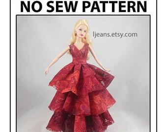 Barbie 6 in 1 No Sew Round Dress Tutorial