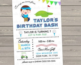 Golf birthday invitation mini golf invitation kids golf golf birthday invitation mini golf invitation kids golf party invitation printable birthday invitations filmwisefo