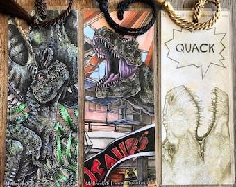 Assorted Jurassic Park / Dinosaur / Pop Culture Themed Bookmarks