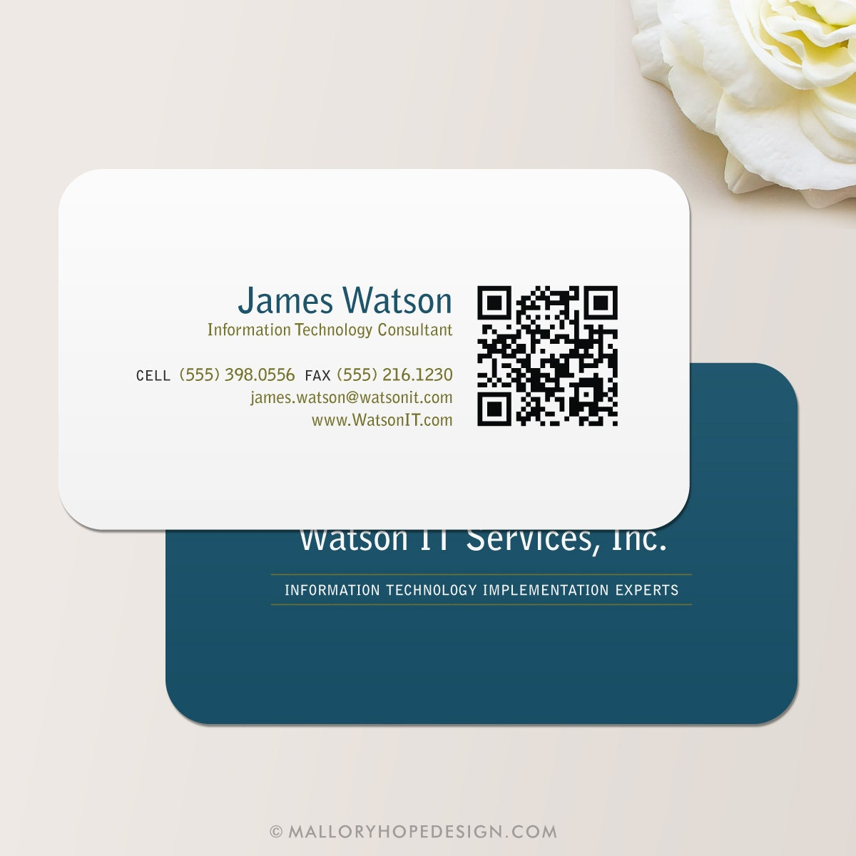 QR Code Consultant Business Card / Calling Card / Mommy Card /