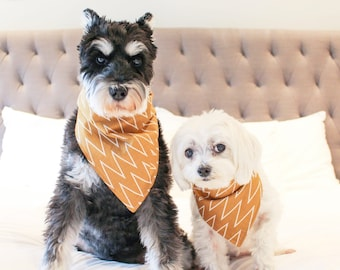 HIPSTER COGNAC | Dog Bandana, Dog Scarf, Dog Accessories, Pet Bandana, Pet Accessories,Dog Clothes, Dog Apparel