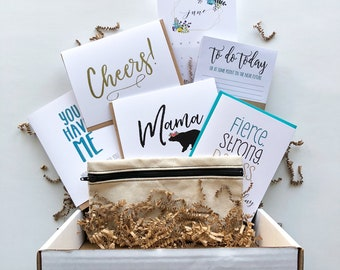 Stationery Box - Flair & Paper Subscription - Greeting Cards and stationery items - Mother's Day - Grad Gift - Gift Subscription