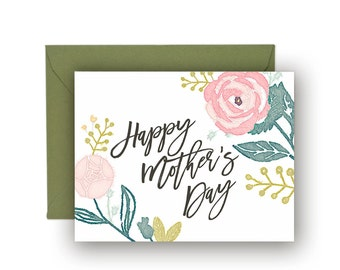 Happy Mother's Day Card, Mother's Day Printable Card- Instant Download