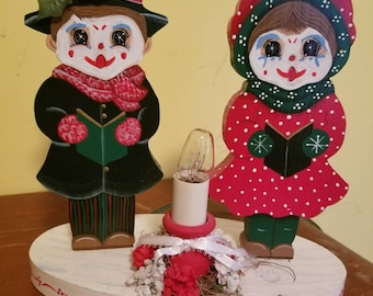 Light up clown Christmas Carol
