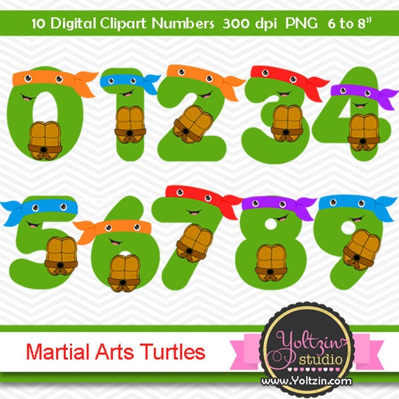 Ninja Turtles Clipart Numbers clip