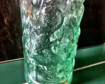 Stunning Vintage Lime Cordial Bottle