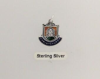 Christchurch Crest Silver Charm