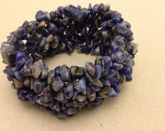 Vintage Blue Stone Chip Bracelet