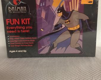 Vintage Batman The Animated Series Fun Kit Crayons & Coloring Books NIB