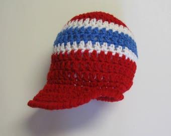 PATRON PDF No 10 Bonnet au crochet Canadiens de Montréal, Habs, bébé, français, casquette, chapeau, enfant, par 3petitesmailles