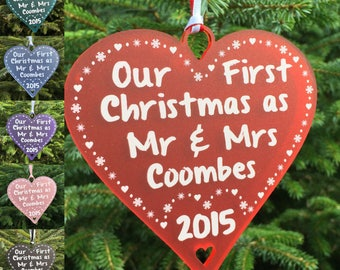 Our First Christmas Together Personalised Tree Decoration Gift ...