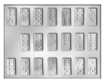 Domino Chocolate Mold - Games - Baking Candy Making Party Supplies