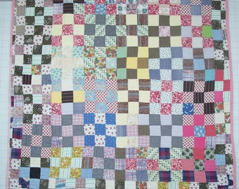 Scrappy 9-Patch Quilt
