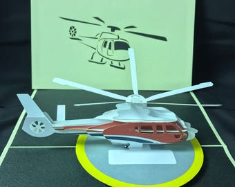 Helicopter 3-d pop up card