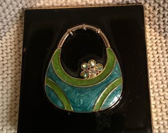 Enamelware Mirror purse compact