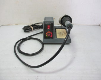 Vintage Soldering Iron with Base and Adjustable Controller
