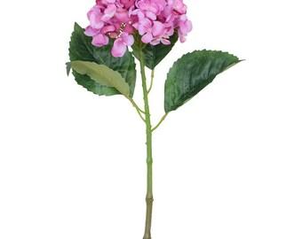 Artificial Vibrant Pink Tones Hydrangea Flower H 63 cm