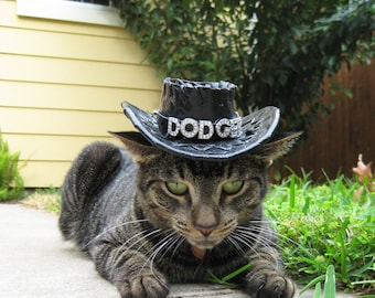 Cowboy hat for cats and dogs (personalized with crystal letters)