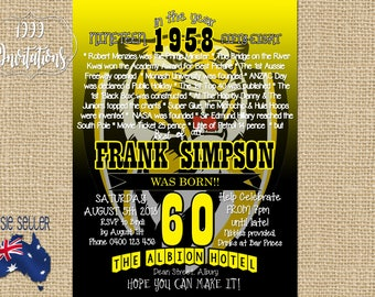 Printable Richmond Tigers Invitation - AFL Party - Football Invite - Australian Rules - 30th - 40th - 50th - 60th - 70th -80th - Surprise