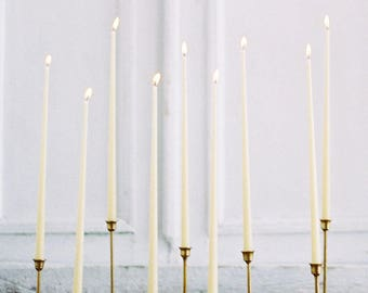 Beeswax Taper Candles - Any Custom Color Candles - Taper Wax Candles Natural Color 100% Beeswax Organic