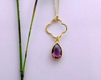 Amethyst birthstone necklace, Febuary Birthstone, Amethyst Jewellery, Amethyst Necklace, Amethyst Pendant, Birthstone Necklace, Amethyst