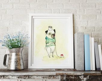 Eduardo, Nursery wall art boy, nursery animal print, nursery decor boy, kids room decor, nursery wall decor, dog wall art, dog wall decor
