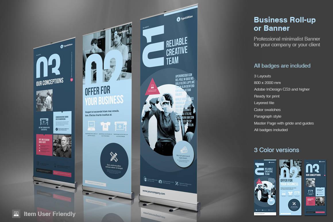 Business Roll-Up Banner InDesign-Vorlage