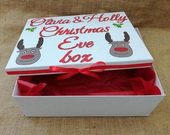Christmas Eve box, Christmas gift box, personalised Christmas eve box, Xmas eve box, personalised Christmas gift, Christmas decorations