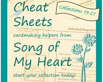 Cheat Sheets (19-21) Continuing Collection: Instant Digital Download cardmaking helpers