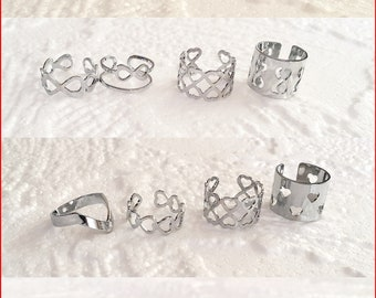 Silver Stacking Rings, Stackable Rings, Stacking Rings Box Set, Stacking Rings Set, Midi Rings, Midi Rings Set, Ring Box Set, Ring Set