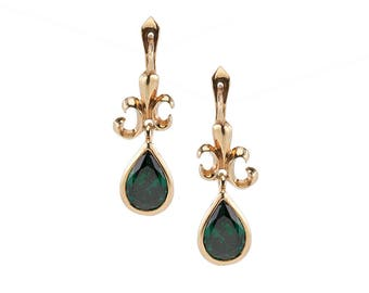 Baroque Earrings Gilded