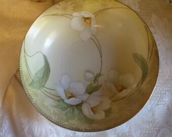 Vintage Bowl Regina Ware Germany White Poppies