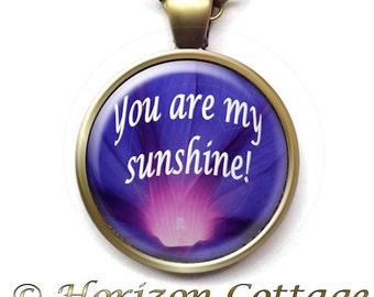 You Are My Sunshine, Morning Light Through Flower, Flower Lover Gift, Purple Morning Glory, Gift For Gardener, Gift of Hope, Finish Options