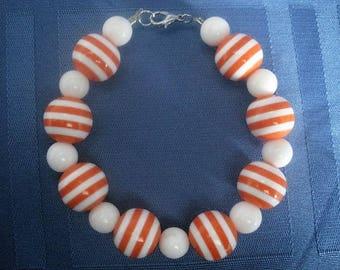Orange Stripe Bracelet