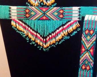 Native American beaded jewelry set