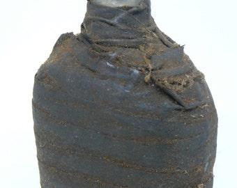Folk Art Friction Tape Wrapped Liquor Bottle
