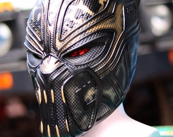 Killmonger helmet 1:1 scale  fully pattern detail , paint from Black panther 2018 movie for collectables or cosplays