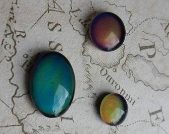 Mood Stones, Mood Cabochons, Mood Ring, Colour Change, Mood Dome, Jewellery Mood, Temperture, Heat, 12mm Cabochons, Unique Cabochons,