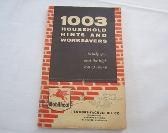 1003 Household Hints and Worksavers from Mobilheat, Socony-Vacuum Oil Co.