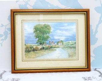 Framed Print, The Oasts by John Bathgate, Framed, English Countryside Print, Kent Countryside Print,  Home Decor, Homewares