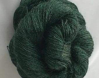 """Hand Dyed Merino Blend yarn - 500 yds 35g """"Loch Ness"""""""