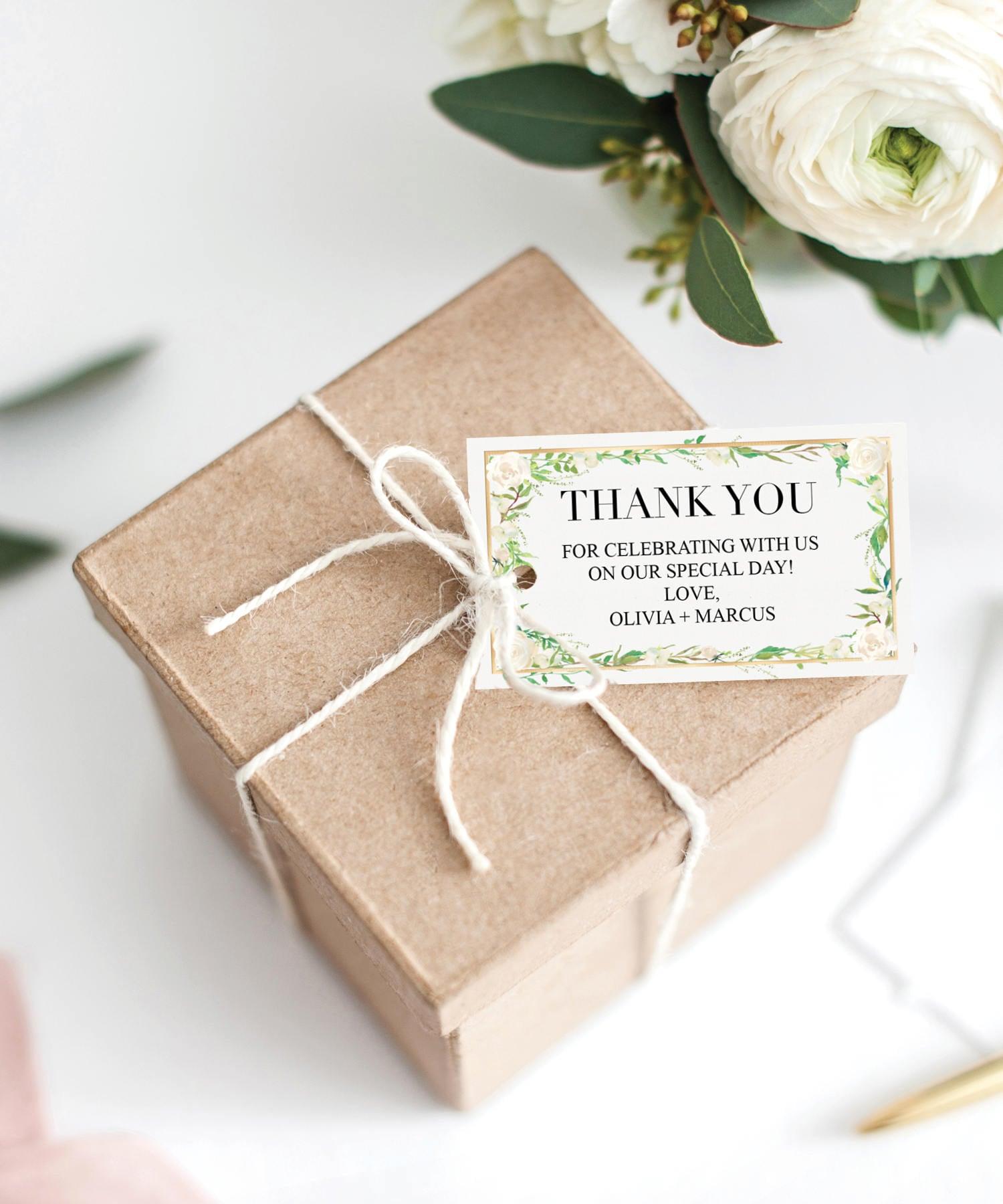 Wedding Favor Tags Thank You Tag Editable Tag Bridal