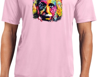 Men's Funny Shirt Einstein Men's Moisture Wicking Tee T-Shirt-18486NBT4-ST350