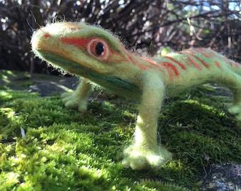 Needle Felted Gecko